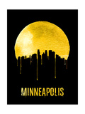 Minneapolis Skyline Yellow Prints