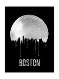Boston Skyline Black Print