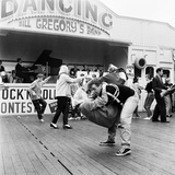 Couple Dancing to Bill Gregory's Band. August 1958 Photographic Print by  Staff