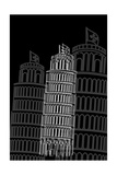 Tower of Pisa Night Prints by Cristian Mielu