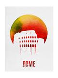 Rome Landmark Red Art