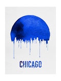 Chicago Skyline Blue Art