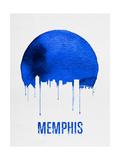 Memphis Skyline Blue Posters