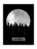 Houston Skyline Black Prints