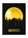 Nashville Skyline Yellow Posters