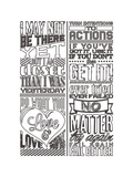 Action Set White Prints by  Vintage Vector Studio