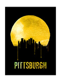 Pittsburgh Skyline Yellow Posters