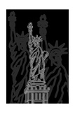 Stature of Liberty Night Poster di Cristian Mielu