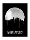 Minneapolis Skyline Black Posters