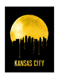 Kansas City Skyline Yellow Posters