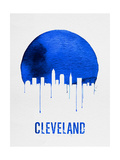 Cleveland Skyline Blue Posters