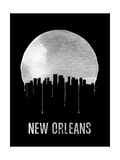 New Orleans Skyline Black Prints