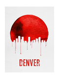 Denver Skyline Red Posters