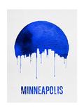 Minneapolis Skyline Blue Posters