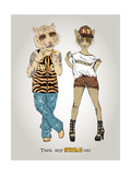 Tiger and Leopard in Swag Style Prints by Olga Angellos