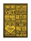 Achievement Set Yellow Posters by Lorand Okos