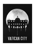 Vatican City Landmark Black Prints