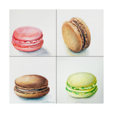 Four Macaroons Prints by Jennifer Redstreake Geary
