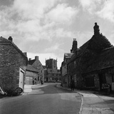 Corfe Castle Village Photographic Print by  Staff