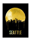 Seattle Skyline Yellow Prints