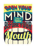 Open Your Mind Posters by  Vintage Vector Studio