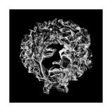 Jimi Hendrix 2 Print by Octavian Mielu