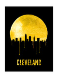 Cleveland Skyline Yellow Posters