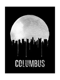 Columbus Skyline Black Poster