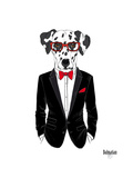 Dalmatian Dog in Tuxedo Art by Olga Angellos