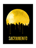 Sacramento Skyline Yellow Prints