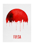 Tulsa Skyline Red Posters