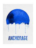 Anchorage Skyline Blue Print