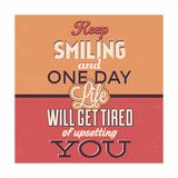 Keep Smiling Premium Giclee Print by Lorand Okos