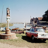 Triumph Herald Car on Norfolk Coastline, 1966 Photographic Print by Malcolm MacNeil