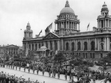 Scene Outside the City Hall in Belfast During the Opening Ceremony. 13th June 1921 Photographic Print by  Staff
