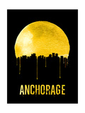 Anchorage Skyline Yellow Prints
