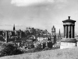 A view of Edinburgh showing the Castle, June 1947 Photographic Print by  Staff