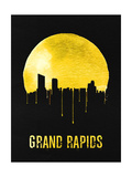 Grand Rapids Skyline Yellow Print