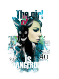 The Girl Is Dangerous Prints by Alisa Franz