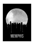Memphis Skyline Black Posters