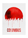 Columbus Skyline Red Art