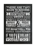 Success Set Black Poster by  Vintage Vector Studio