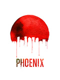 Phoenix Skyline Red Prints