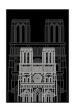 Notre Dame Night Poster by Cristian Mielu