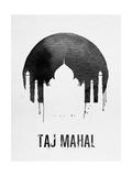 Taj Mahal Landmark White Print