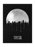 Tulsa Skyline Black Prints