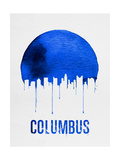 Columbus Skyline Blue Posters
