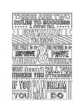 Success Set White Prints by  Vintage Vector Studio
