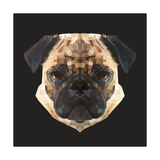 Pug Print by Lora Kroll