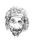Albert Einstein Print by Octavian Mielu